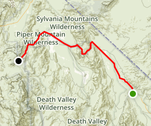 Death Valley Scenic Drive Map