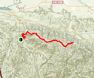 Liebre Mountain / Golden Eagle Trail Map
