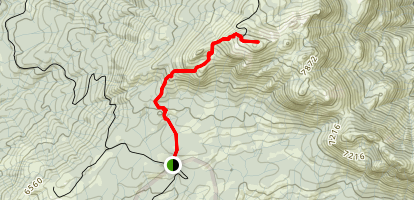 Browns Meadow to Shuteye Peak Trail Map