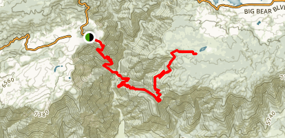 Siberia Creek Trail Map