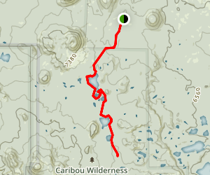 Triangle, Turnaround, and Black Lakes Trail Map