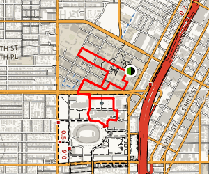 University of Southern California and Exposition Park Walk Map