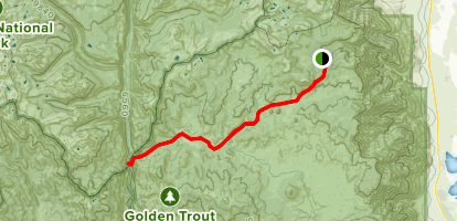 Horseshoe Meadow to the Kern River Map