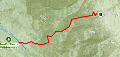 Olancha Pass and Summit Meadow  Map