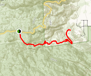 Tubb Canyon Trail to Middle Spring and Tubb Canyon Spring Map
