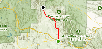 McCain Valley Road Drive Map