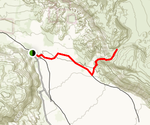 Alcoholic Pass Trail Map