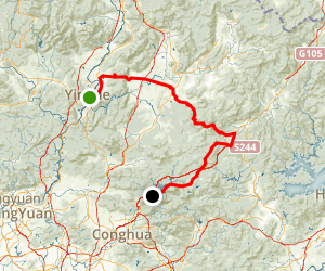 Yingde to Lian Bike or Scenic Drive Map