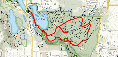Woodburn Falls Loop Trail Map