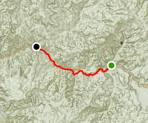 North Umpqua River: Boulder Flat to Gravel Bin Map