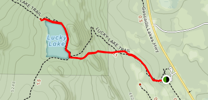 Lucky Lake Trail Map