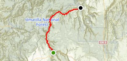 Wallowa River and Grande Ronde River: Minam to Troy Map