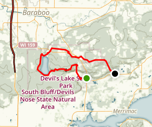 Ice Age National Scenic Trail - Devil's Lake Segment Map