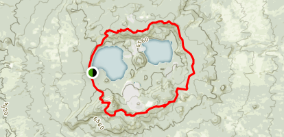 Newberry Crater Rim Trail Map