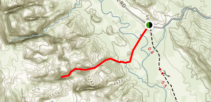 Headquarters Canyon Route Map