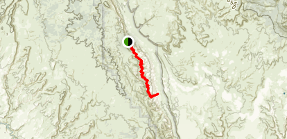Lower Muley Twist Canyon Route Map