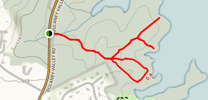 Deadman's Cave Trail Map