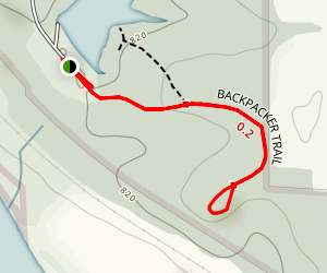 Yellow Banks Backpacker Trail Map