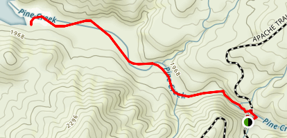 Lower Pine Creek Map