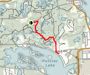 Pontiac Lake Hiking Trail Map
