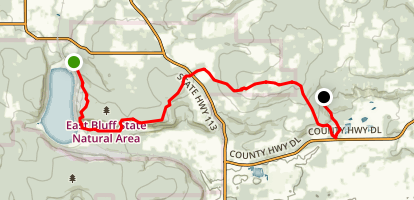 Ice Age Trail: Devil's Lake to Parfrey's Glen Map