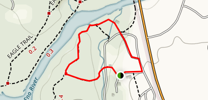 Laurel Cliffs Nature Trail to South River Trail Loop Map