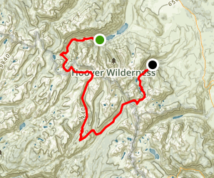 Matterhorn Canyon and the Sawtooth Range Trail Map