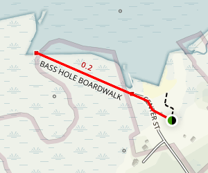Bass Hole Boardwalk Map