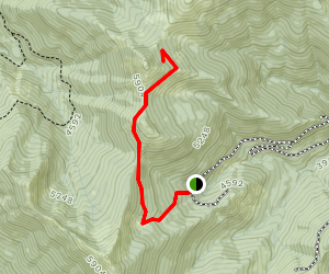 Green Valley Trail to Denman Cabin Map