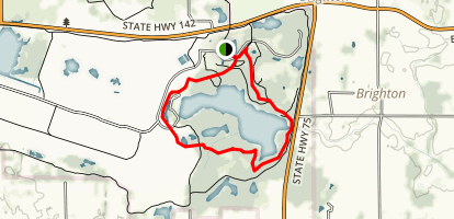 Richard Bong State Recreation Area: Blue Trail Map