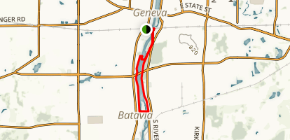 Fox River Trail: Geneva to Batavia Map