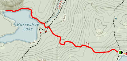 Horseshoe Lake Trail Map