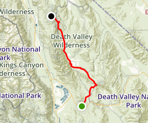 Saline Valley Road Map