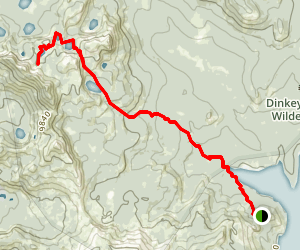Three Sisters Peak Trail to Cliff Lake, Rock Lake, and Island Lake Map