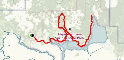 Lava Springs and Splatter Cone Loop Trail Map