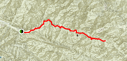 Sisquoc River Trail to Sycamore Campground Map