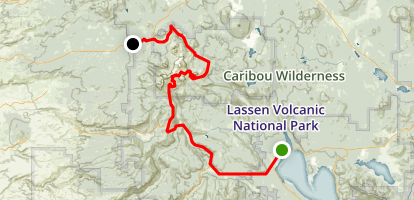 Lassen Volcanic National Park Scenic Drive Map