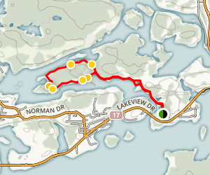 Tunnel Island Loop B Map