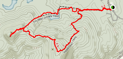 Skatutakee and Thumb Mountains Map