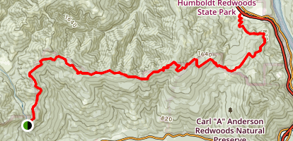 Peavine Ridge Road Map