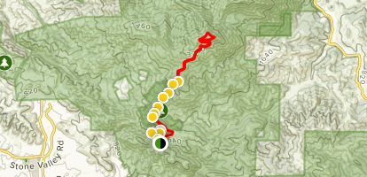 Rock City to the Summit of Mount Diablo Map