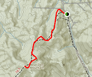 Benton MacKaye Trail: Bushy Head Gap to Watson Gap Map