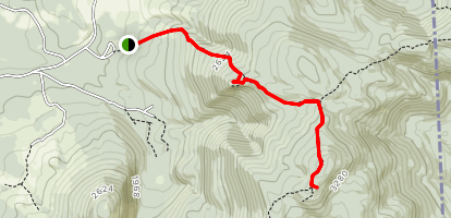 Mount Success via Appalachian Trail Map