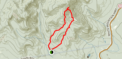 Liberty and Claybrank Brook Loop Trail to Mount Chocorua Map