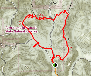 East Ridge / Pool Ridge Short Loop Map