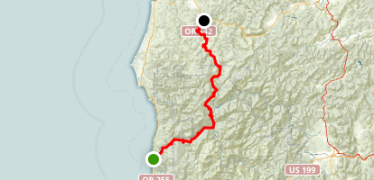 Rogue-Coquille Scenic Byway Map