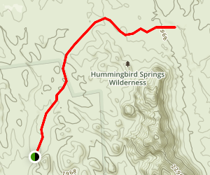 Hummingbird Springs Wilderness Trails Map