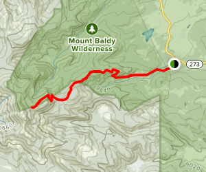 East Baldy Trail #95 Map