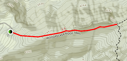 Woodpecker Ridge Trail Map
