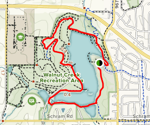 Walnut Creek Lake Trail West Map